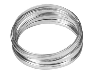 "3/16"" OASIS™ Flat Wire, Silver, 1 pack"