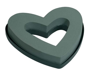 "9"" OASIS® Open Mini Heart, 2 pack"