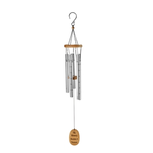 "OASIS® Wind Chimes - Amazing Grace, 40"" Silver"