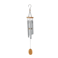 "OASIS® Wind Chimes - Foot Prints, 40"" Silver"