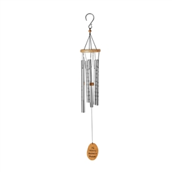 "OASIS® Wind Chimes - Lord's Prayer, 40"" Silver"