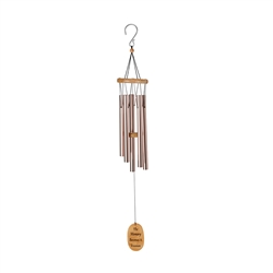 "OASIS® Wind Chimes - Plain, 40"" Rose Gold"