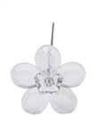 LOMEY™ Retro Flower Pin, Clear, 20 pack
