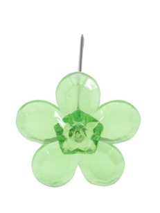 LOMEY™ Retro Flower Pin, Apple Green, 20 pack