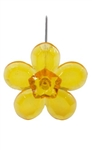 LOMEY™ Retro Flower Pin, Tangerine, 20 pack
