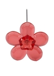 LOMEY™ Retro Flower Pin, Red, 20 pack