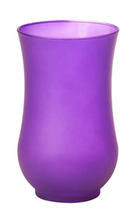 "9"" Hurricane Vase, Purple Matte, 4/case"