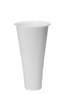 "16"" Cooler Bucket Cone, White (Case of 12)"
