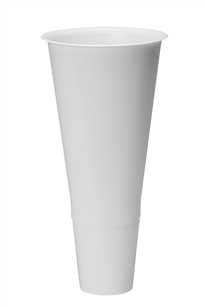 "19"" Cooler Bucket Cone, White (Case of 12)"