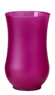 "9"" Hurricane Vase, Strong Pink Matte, 4/case"