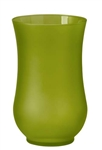 "9"" Hurricane Vase, Apple Green Matte, 4/case"