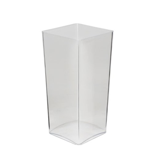 "10"" OASIS Taper Square Vase, Clear"