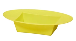 ESSENTIALS™ Oval Bowl, Yellow, 12 pack
