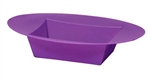 ESSENTIALS™ Oval Bowl, Purple, 24/case