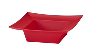 ESSENTIALS™ Square Bowl, Red, 12 pack