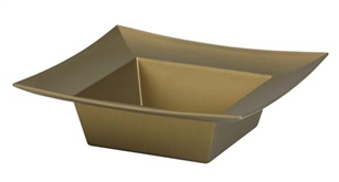 ESSENTIALS™ Square Bowl, Gold, 24/case