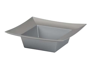 ESSENTIALS™ Square Bowl, Silver, 12 pack