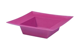 ESSENTIALS™ Square Bowl, Strong Pink, 24/case