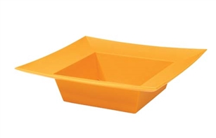 ESSENTIALS™ Square Bowl, Tangerine, 12 pack