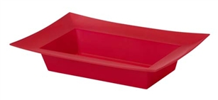 ESSENTIALS™ Rectangle Bowl, Red, 24/case