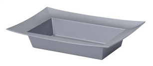 ESSENTIALS™ Rectangle Bowl, Silver, 24/case