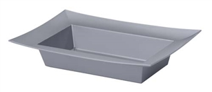 ESSENTIALS™ Rectangle Bowl, Silver, 12 pack