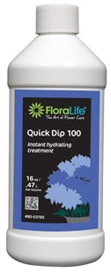Floralife® Quick Dip 100 Instant hydrating treatment, 16 ounce, 16 oz. bottle