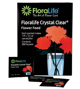 Floralife CRYSTAL CLEAR® Flower Food 300, 1Qt./1L packet, 100 box, 600/case