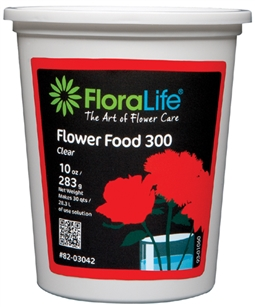 Floralife CRYSTAL CLEAR® Flower Food 300 Powder, 10 ounce, 10 oz. tub