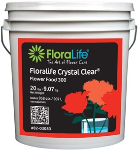 Floralife CRYSTAL CLEAR® Flower Food 300 Powder, 20 lb., 20 lb. pail