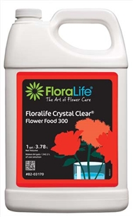 Floralife CRYSTAL CLEAR® Flower Food 300 Liquid, 1 gallon, 1 gallon jug