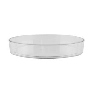 "8 1/2"" Designer Tray, Crystal,  Pack Size: 24"