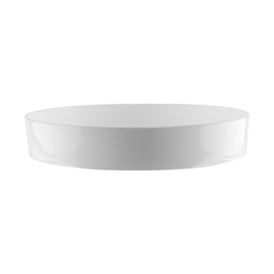 "8 1/2"" Designer Tray, White,  Pack Size: 24"