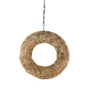 "12"" ROUND SPHAGNUM WREATH, 6/CS"