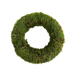 "15"" ROUND MOSS WREATH, 6/CS"