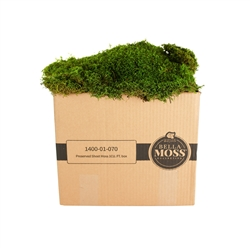 BELLA MOSS PRESERVED SHEET MOSS 1CUFT BOX