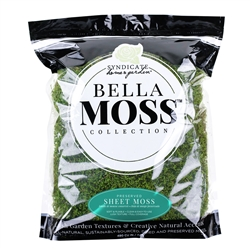 BELLA MOSS PRESERVED SHEET MOSS, 480 CU IN BAG, 10/CASE