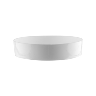"6"" Designer Tray, White,  Pack Size: 24"