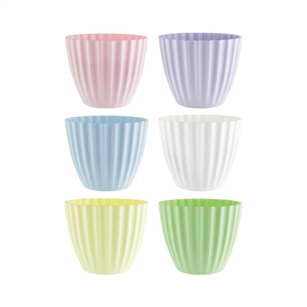 "4 3/8"" Parasol Vase, Seaside Pastel Assortment,  Pack Size: 24"