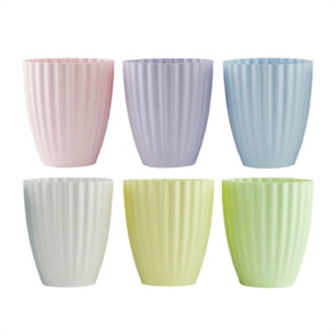 "6"" Parasol Vase, Seaside Pastel Assortment,  Pack Size: 24"