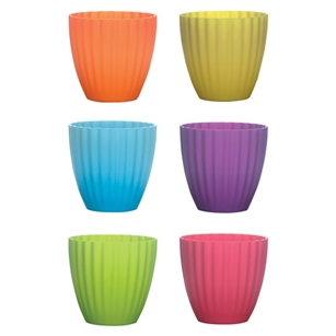 "5 3/8"" Parasol Vase, Popsicle Assortment,  Pack Size: 18"