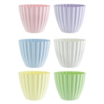 "5 3/8"" Parasol Vase, Seaside Pastel Assortment,  Pack Size: 18"