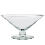 "5"" Grande Footed Bowl, Crystal,  Pack Size: 1"