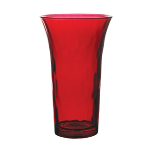 "7"" Sweetheart Vase, Ruby,  Pack Size: 12"