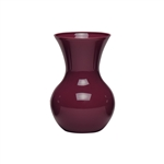 "7"" Sweetheart Vase, Black Cherry,  Pack Size: 12"