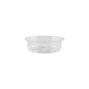"4"" Saucer, Crystal,  Pack Size: 600"