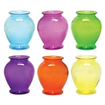 "5"" Ginger Vase, Fiesta Assortment,  Pack Size: 24"