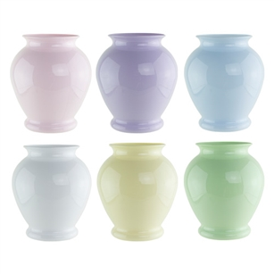 "5"" Ginger Vase, Seaside Pastel Assortment,  Pack Size: 24"