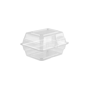 "5""x4""x3"" Boutonniere Box, Crystal,  Pack Size: 200"