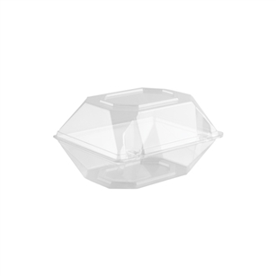 "6""x5""x4""  Corsage Box, Crystal,  Pack Size: 100"